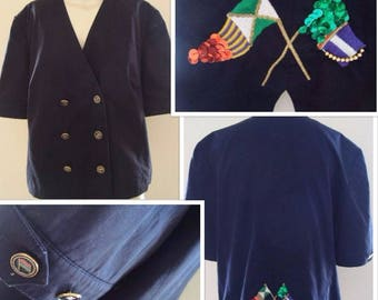 80's Nautical Blazer (M/L)
