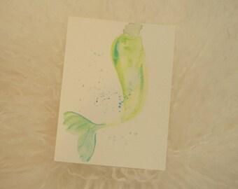 Mermaid Tail Watercolor