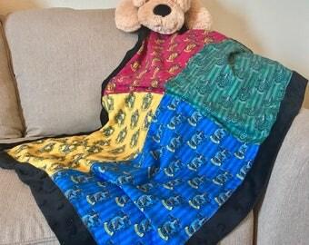 Harry Potter House Minky/Cotton Blanket