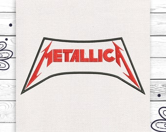 Metallica Discount 10% Machine embroidery design 4 sizes INSTANT DOWNLOAD EE5051