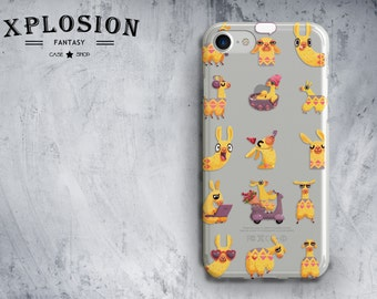 Lama Phone Case Llamas iphone x case iphone 7 case lama clear iphone case cute iphone case animal case iphone 7 plus case iphone 8 plus case