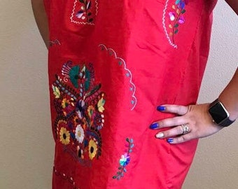 Mexican hand embroidered dress size S-M