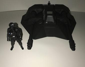 Star Wars custom Snow speeder & pilot dark side