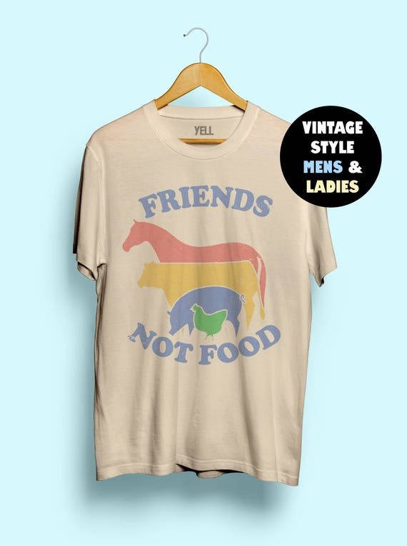 Friends Not Food T Shirt Vintage Tshirt Tee Gift For Vegan