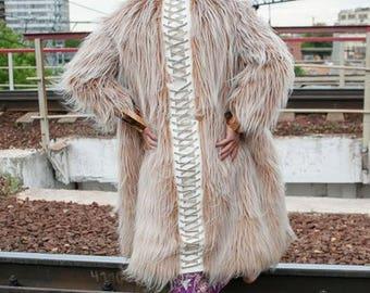 ALTAIR Fur Coat | Burning Man | Festival clothes | Playa Jacket | Mens Costume | Faux fur coat | Kalifesta
