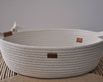 Cotton cord basket wide