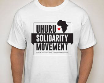 Uhuru Solidarity T-Shirt *PREORDER* (white)