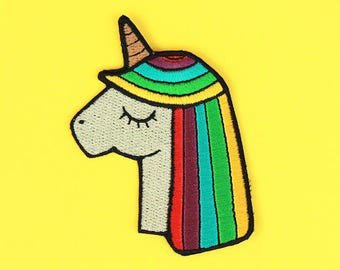 Acid Rainbow Unicorn Patch - Iron-On Patch