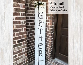 Rustic Home Decor, Rustic Decor, Rustic Fall Decor, Rustic Sign, Home Decor, Fall Home Decor, Fall Sign, Thanksgiving Decor, Gather Sign