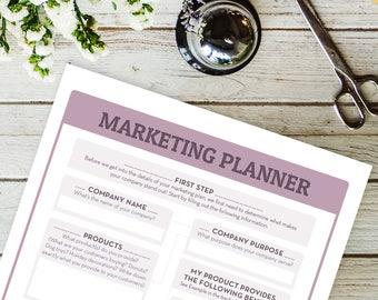 Marketing Planner | Monthly Planner | Planner Inserts | Marketing Kit | Real Estate Marketing | Marketing Printable | Printable Planner