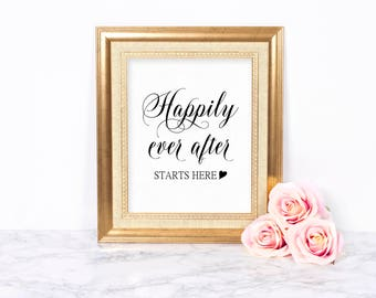 Wedding Welcome Sign Printable, Wedding Signs, Welcome to our Wedding Sign, Wedding Signage, Modern Wedding Sign, Happily Ever After Sign
