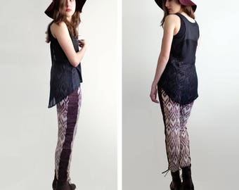 High-Waisted Ombre Knit Pants