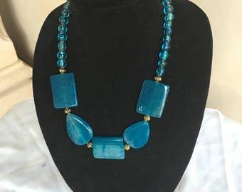 Blue Agate Necklace by Dobka