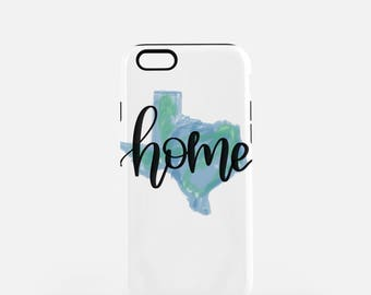 Texas Home iPhone Case | Texas Home Phone Case | Tough case | Fits 8, 8 Plus, 7, 7Plus, 6/6S, 6Plus, 5/5s, 5C,  | Phone Case Gift