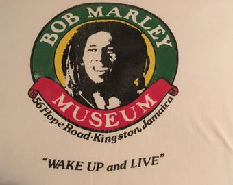 Bob Marley Museum Vintage T Shirt Reggae Music Rasta Jamaica
