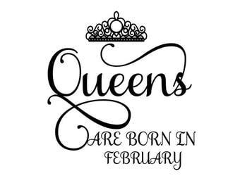 Queens are born in February SVG Crown