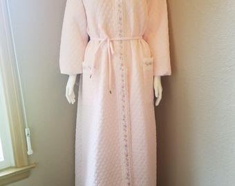 Vintage 1960's Women's Quilted Robe/ House Coat