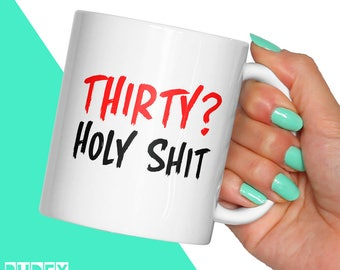 Funny birthday gift etsy funny birthday gift age holy shit mug rude getting old 30 40 negle Choice Image