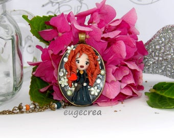 Princess Merida necklace in Fimo