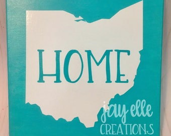 State Canvas Custom State Sign Canvas Wall Sign Going Away Gifts New Homeowner Gifts Moving Gift State Sign Realtor Gift