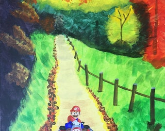Personalized Thrift Shop Painting - Mario Kart