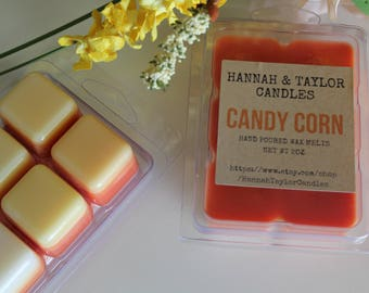 Candy Corn Scented Soy Wax Melt | Candy Corn Handmade Wax Tart | Fall Candy Corn Hand Poured Candle | Fall Scented Candle | Candy Corn Scent