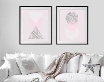 Set of 2 Prints, Marble Wall Art,Printable Art,Marble Print Set,Set of Marble Prints,Geometric,Abstract Art,Scandinavian Wall Art,Pastel Art