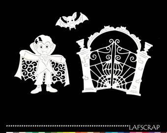cuts scrapbooking halloween vampire bat Portal embellishment Scrapbook die cut scrap child deco paper