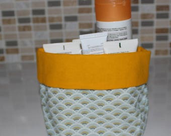 Basket of bath - reversible - pattern range - washable