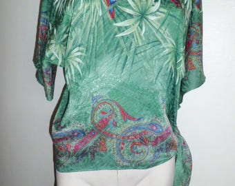 Vintage Mt silk blouse-tunic top