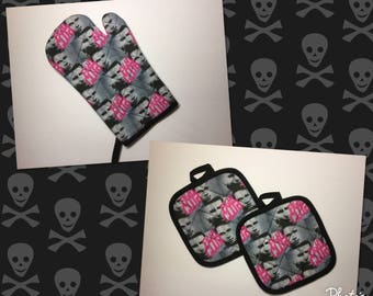 Chuck Palahniuk Fight Club Oven Mitt and pot holders Kitchen gift set  *Ready to Ship