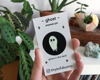 Glow in the Dark Ghost Enamel Pin