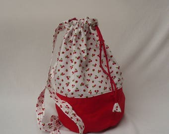 Cherry patterned Duffle Bag