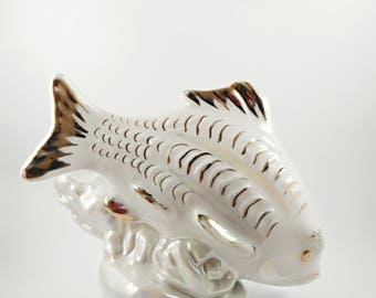 Rare Porcelain Figurine USSR DULEVO fish ussr 1959