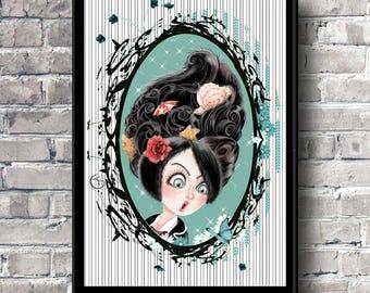 Art print Illustration art Pop surrealism Pin up Colors to choose Childrens room Colorful portrait Bright colors