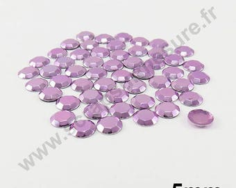 Thermo - purple clear - dome 5mm - 75 x