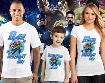 The Avengers Birthday Shirt, The Avengers Custom Shirt, Personalized The Avengers, The Avengers family shirts, Birthday t-shirts