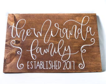 CUSTOM // Personalized Wood Family Name Sign // Gift // Housewarming
