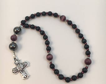 Prayer beads - FREE gift chaplet (1/2 size set) with purchase Protestant / Anglican / Christian / Baptist / Methodist / Episcopalian Beads
