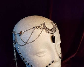 Hecate Triquetra Tiara - witch wicca occult gothic triquetra pagan triple moongoddess hecate moon