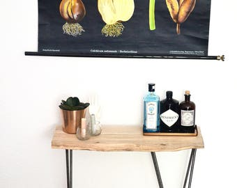 metal end table etsy. Black Bedroom Furniture Sets. Home Design Ideas