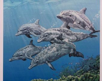 Dolphin Ocean Art Print Entitled Boundless Inspiration