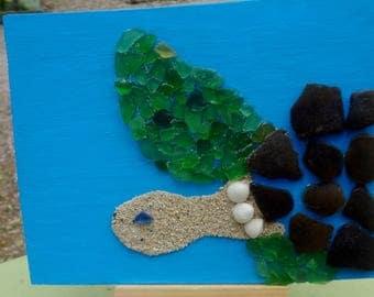 Sea Glass & Sand Turtle