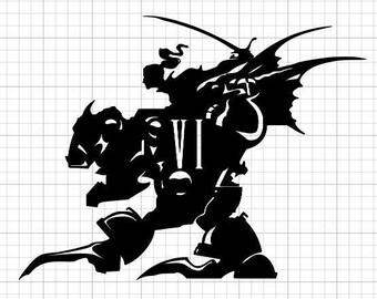 Final Fantasy VI Terra Mech Suit vinyl Decal