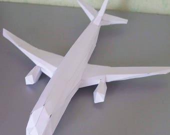 3D Paper plane (30 cms long) DIY do it yourself