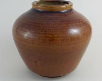 Royal Doulton Brown Glaze Stoneware Vase