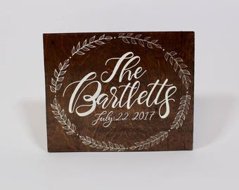 Custom Last Name Sign with Date