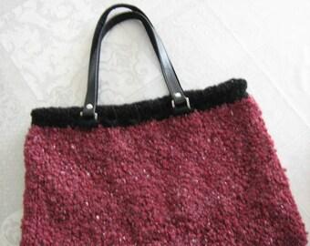 Dark plum over-sized purse