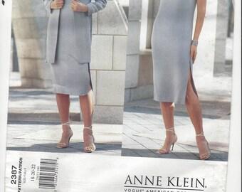 ANNE KLEIN VOGUE American Designer Pattern #2387