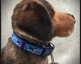 Hipster Husky Dog Collar